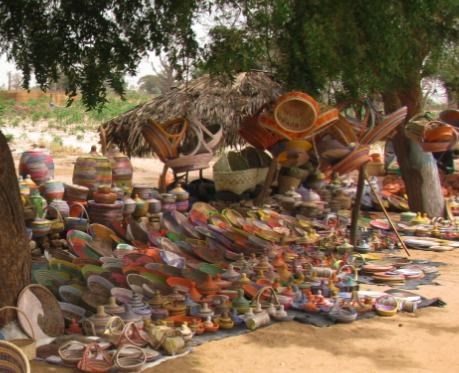 Baskets for sale outside of Thiès