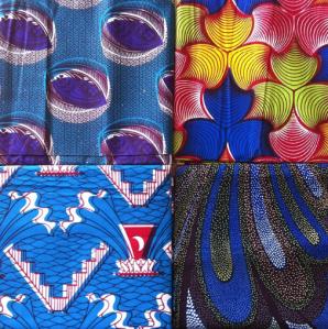 Wax prints from HLM market