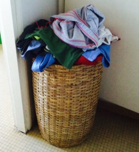 I'll just add that shirt to this teeny tiny pile of laundry...