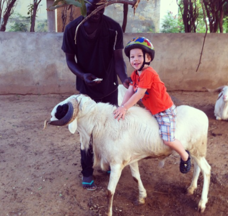 Someone is really going to miss his sheep-riding adventures come Sunday...